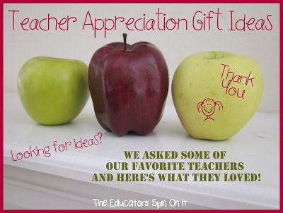 Teacher Appreciation Gift Ideas & Linky Party