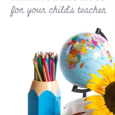 Thank You Gift Ideas for Your Child's Teacher