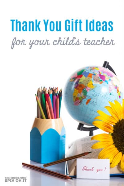 Teacher Themed Globe, pencils and flowers for Teacher Appreciation Day