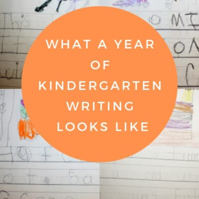 What kindergarten writing looks like – a year of student samples