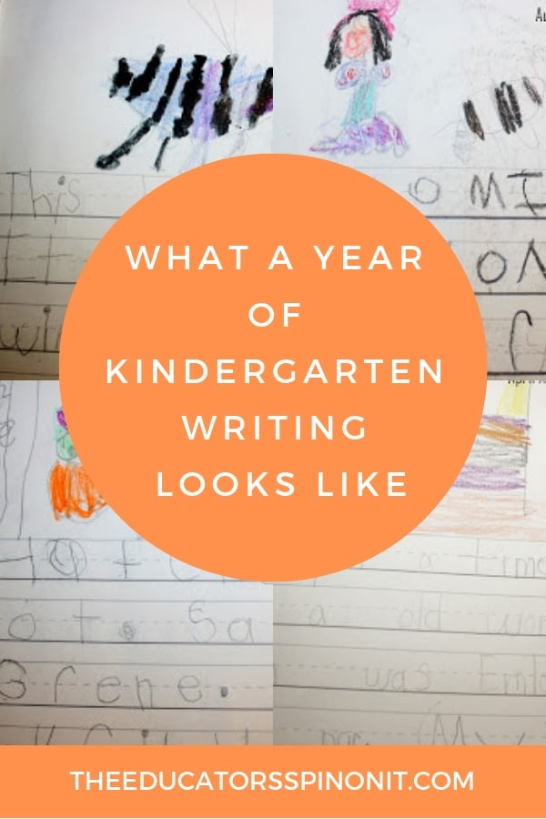 what a year of kindergarten writing looks like