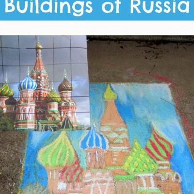 Learning with art and math about the buildings of Russia