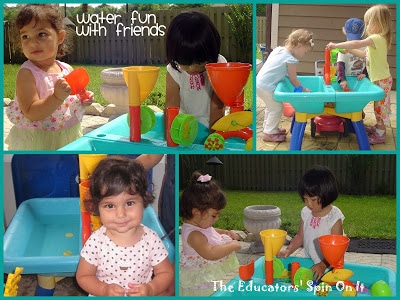 Water Table Fun with Friends
