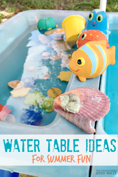 Water Table with Toys for Preschoolers and Toddler for summer fun