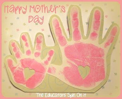 Cute Mother's Day hand print craft