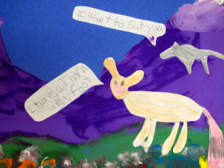 Adding captions supports literacy learning in art projects for kids