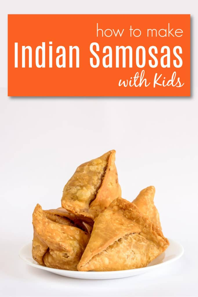 Indian Samosas on plate
