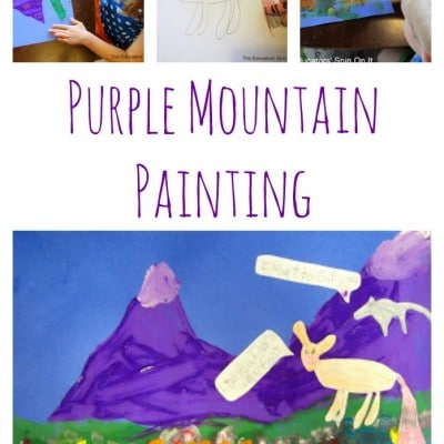 Purple Mountain Painting Activity: Art for Kids