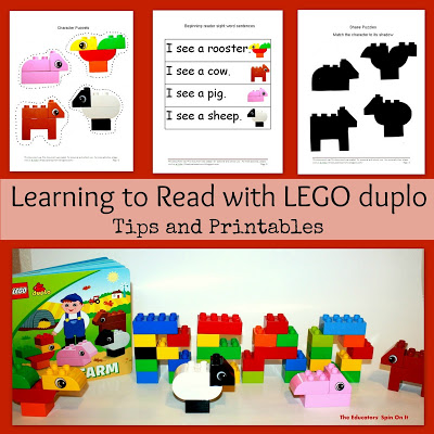Preschool Reading Activities Inspired by LEGO DUPLO
