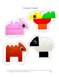 Make a paper puppet - preschool activity