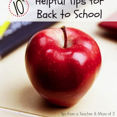 Top Ten Back to School Tips for Home and School