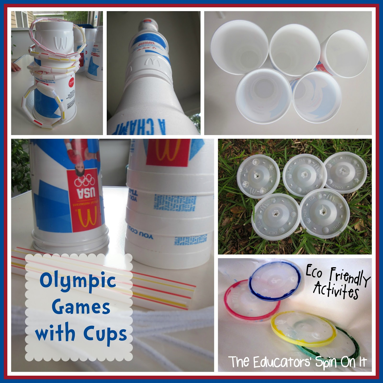 Olympic Fun with Cups - The Educators' Spin On It