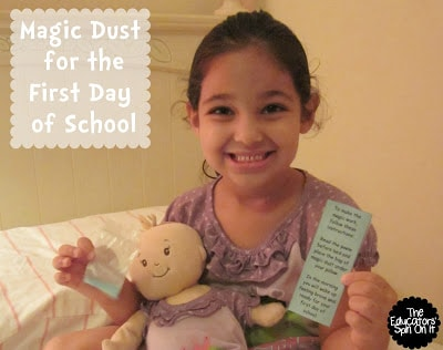 First Day of School Magic Dust for Back to school anxieties