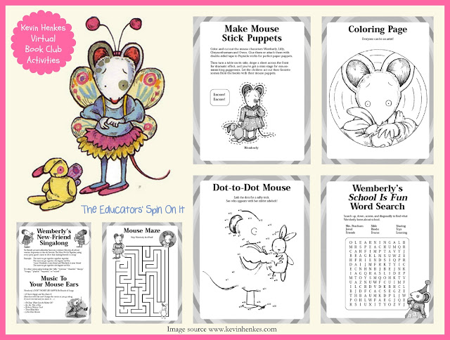 download kevin henkes wemberly activity guide includes a maze dot to dot coloring page finger puppets word search songs and more - Chrysanthemum Book Coloring Pages