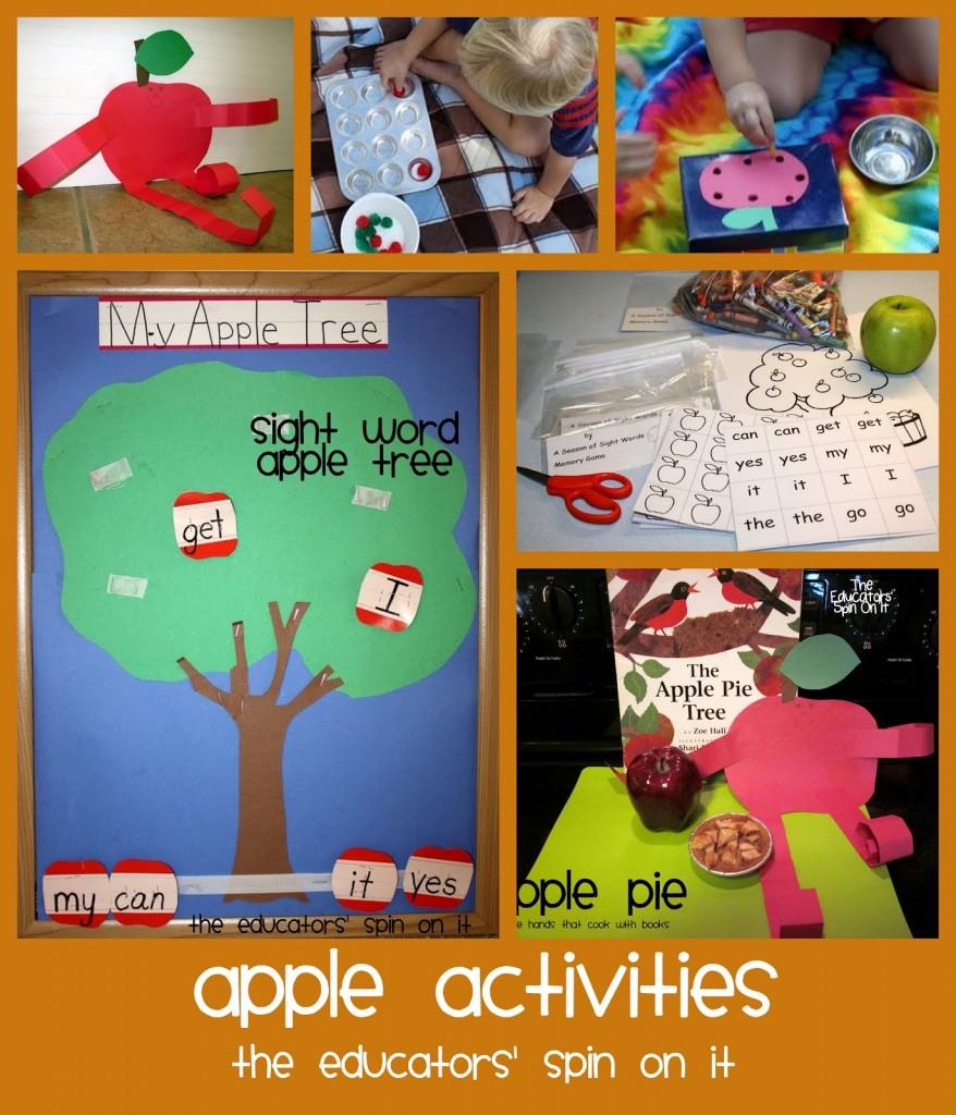 apple actiities for kids