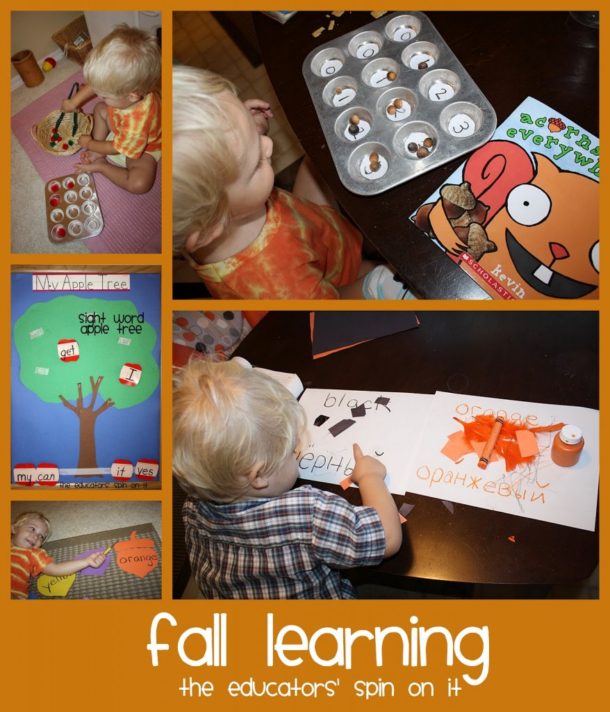 fall learning activities for toddlers and preschoolers