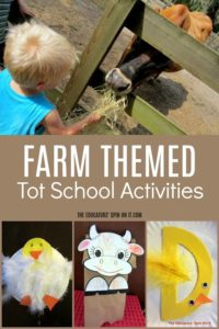 Farm Themed Tot School Activities