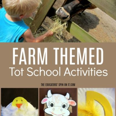 Off to the FARM – Tot school 35 months