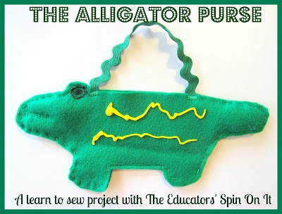 Making an Alligator Purse, a Beginning Sewing Lesson!