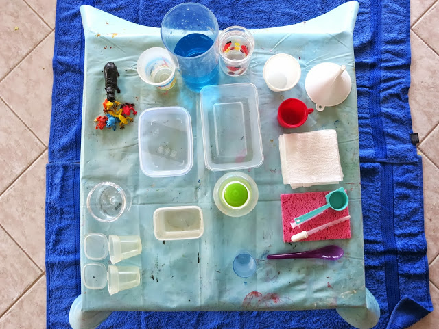 inside water play activity station from Learn with Play at Home