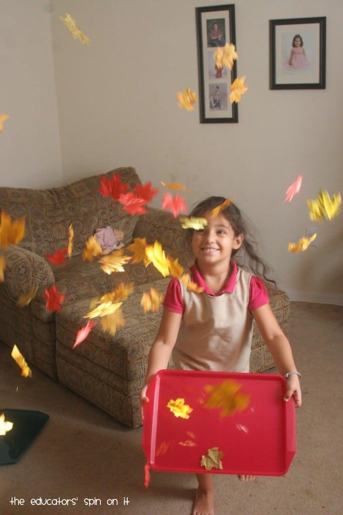 Indoor Leaf Movement Game for Kids