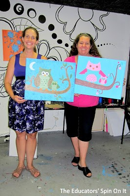 Mom's Night Out at a Paint Your Own Picture Studio