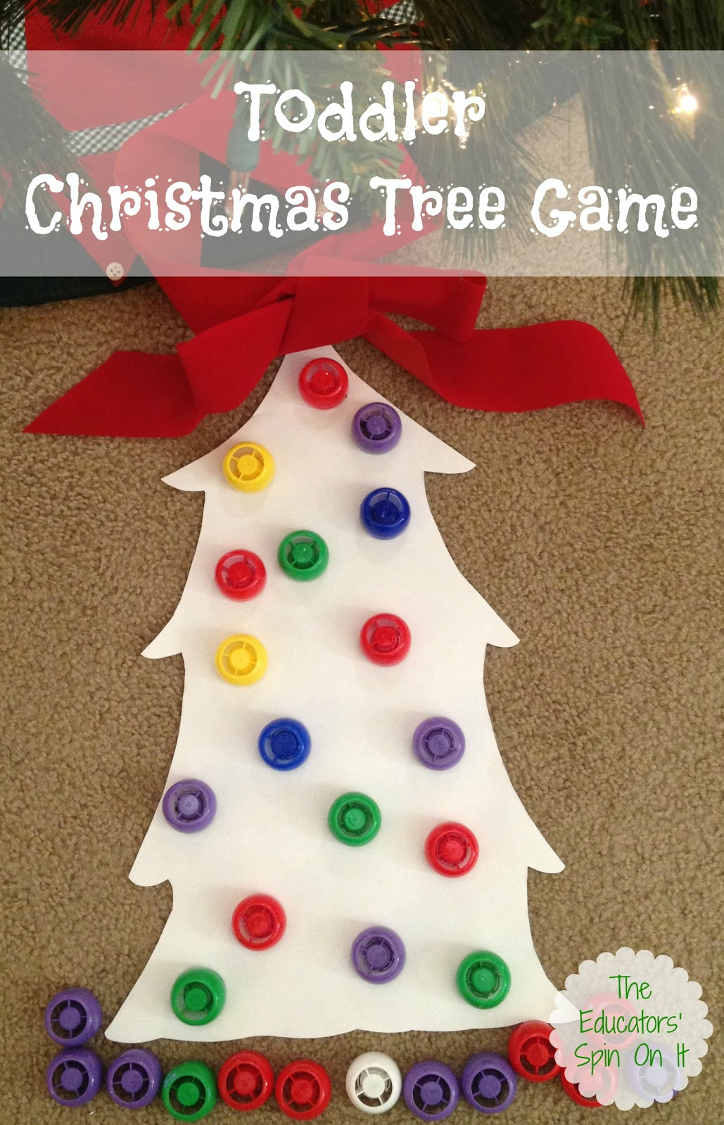 christmas games preschool tree with lids the educators spin on it 194