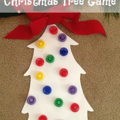 Christmas Tree Fun with Lids