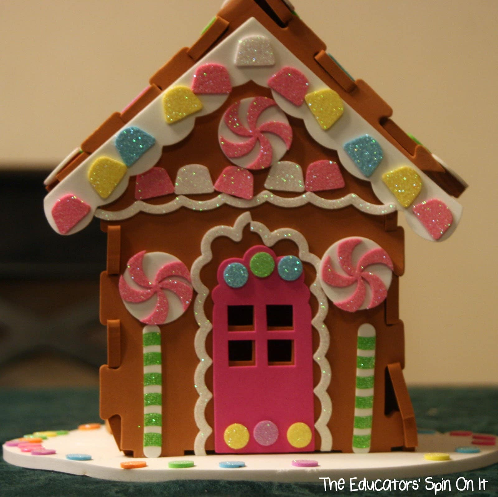 Make your own life size gingerbread house for kids the for How do you make a gingerbread house