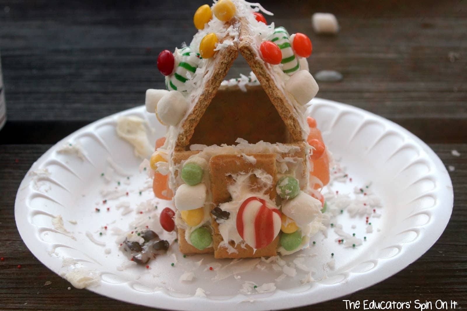 Make Your Own Life Size Gingerbread House For Kids The