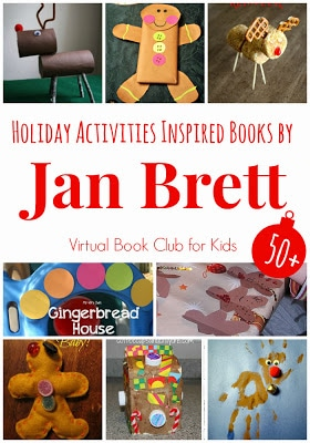 Holiday Activities Inspired by Book by Jan Brett featured at the Virtual Book Club for Kids