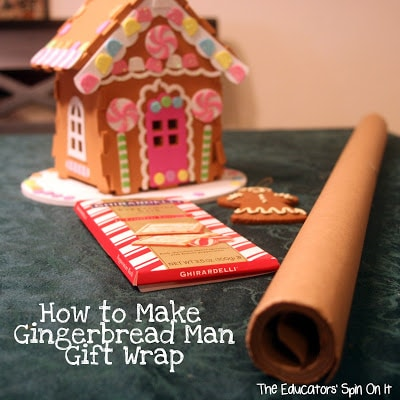 gingerbread man gift wrap ideas with Kids