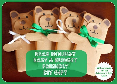 Holiday Bear Easy and Budget Friendly DIY Gift