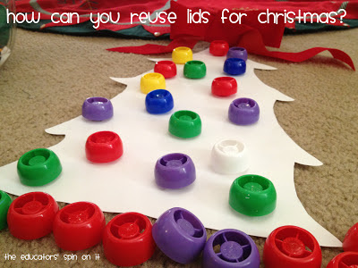 Christmas Tree Activity Lids for Toddlers and Preschoolers