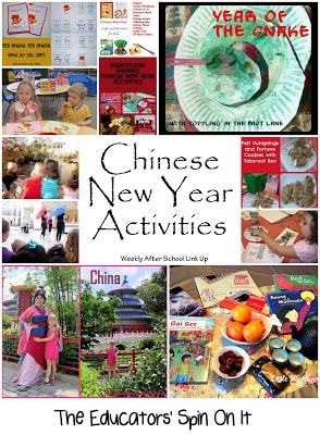 Chinese New Year Activities for Kids featured at The Educators' Spin On It