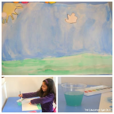 Handprint Truffula Trees inspired by Dr. Seuss's Book The Lorax
