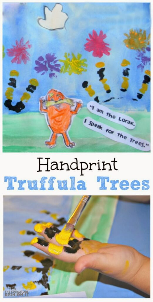 Handprint Truffula trees from The Educators' Spin On it