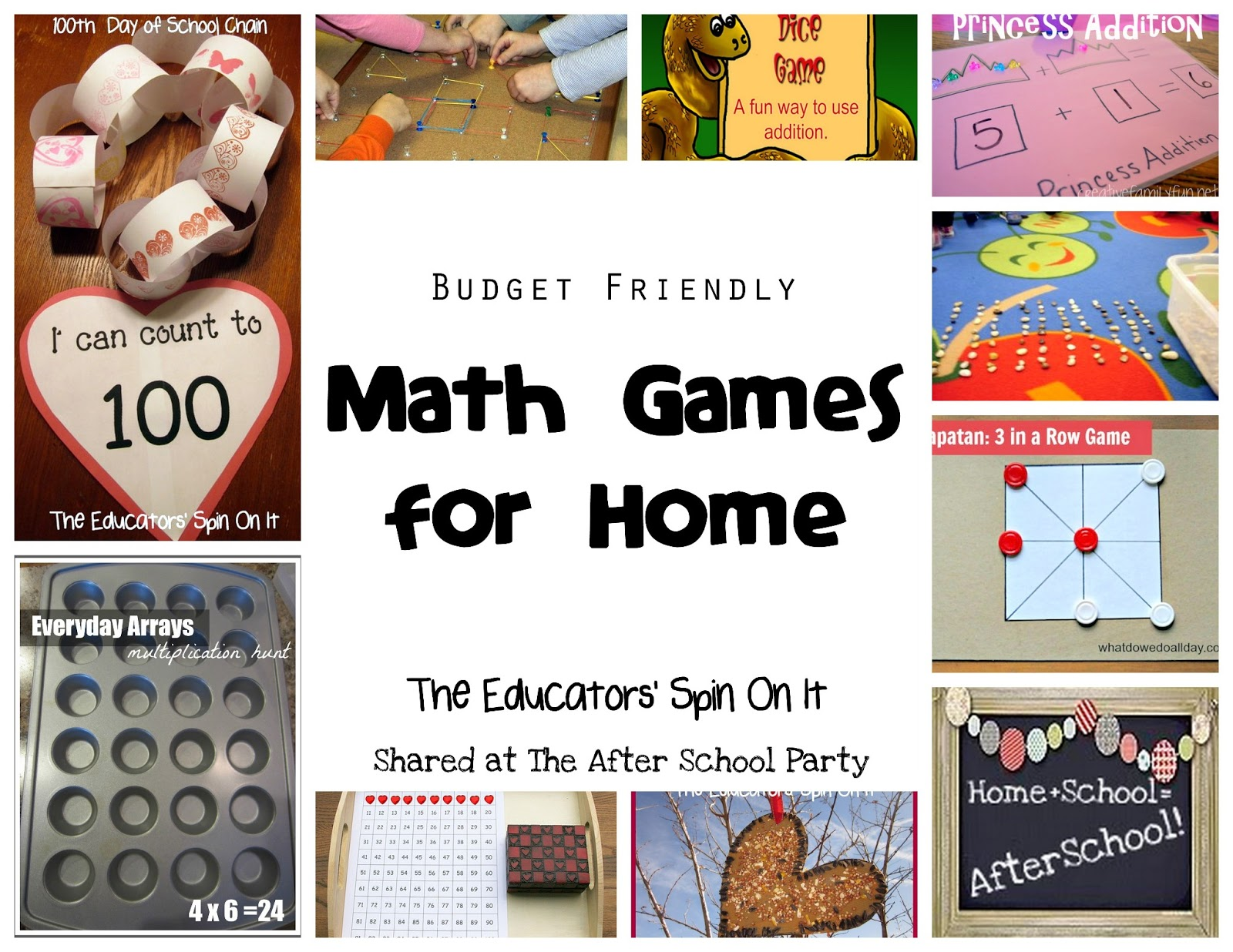 Budget Friendly Math Games for Home {After School Link Up} - The ...