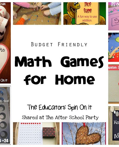 Budget Friendly Math Games for Home {After School Link Up}