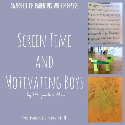 Screen Time and Motivating Boys: Snapshot of Parenting with Purpose