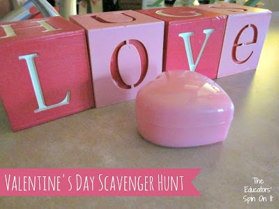 Valentine's Day Scavenger Hunt with Free Printables from the Educators' Spin On It