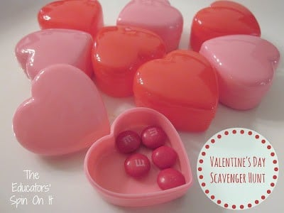 Valentine's Day Scavenger Hunt with Free Printables
