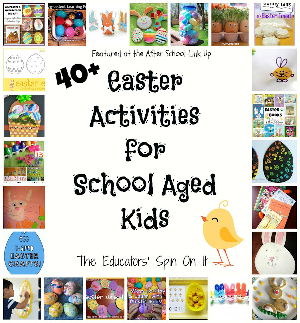 40 Easter Activities for Kids featured at The Educators' Spin On It