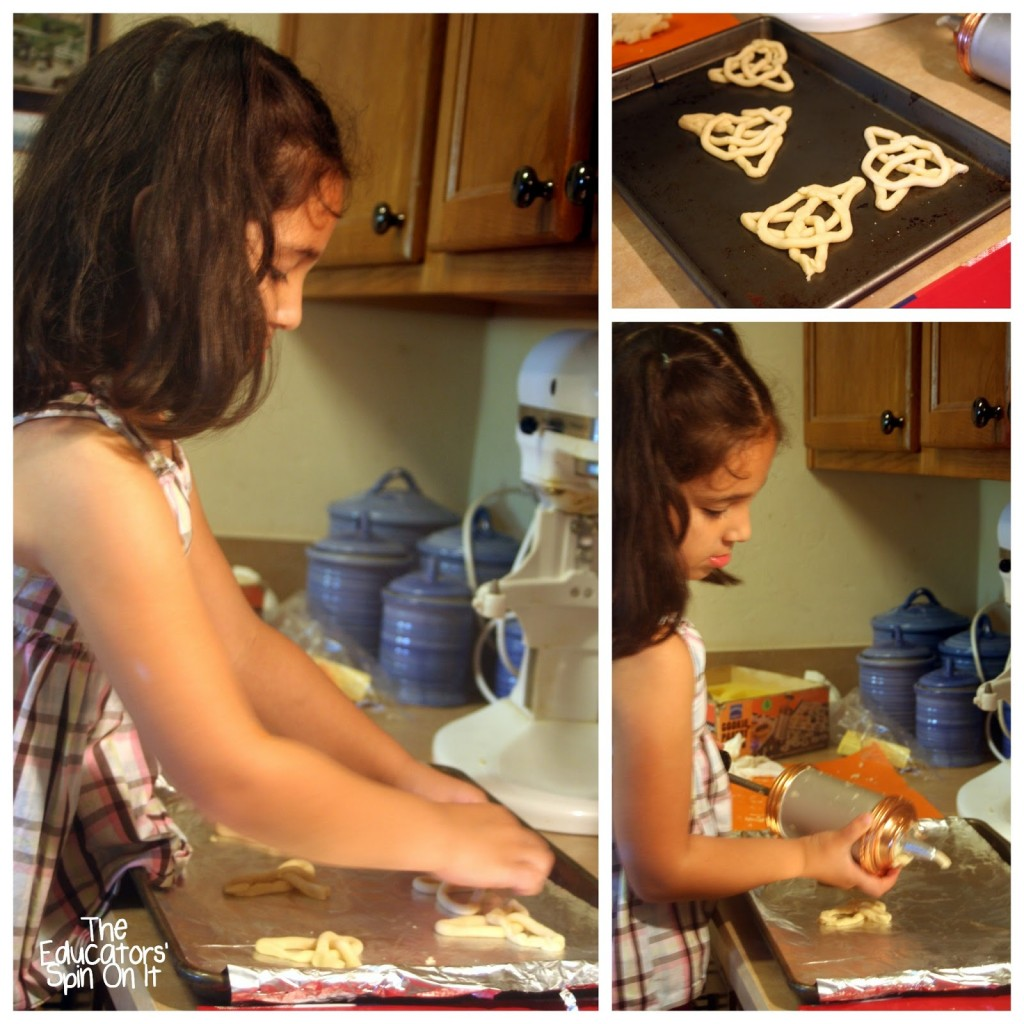 Creating Celtic  Knot Cookies with Kids to learn about Ireland