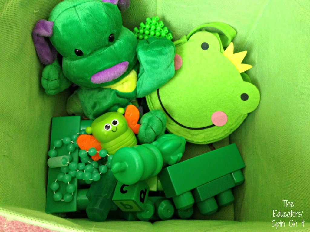 Green Activity with Toys for St. Patrick's Day