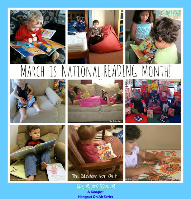 March is National Reading Month here's a few ways we're reading around the globe at The Educators' Spin On It