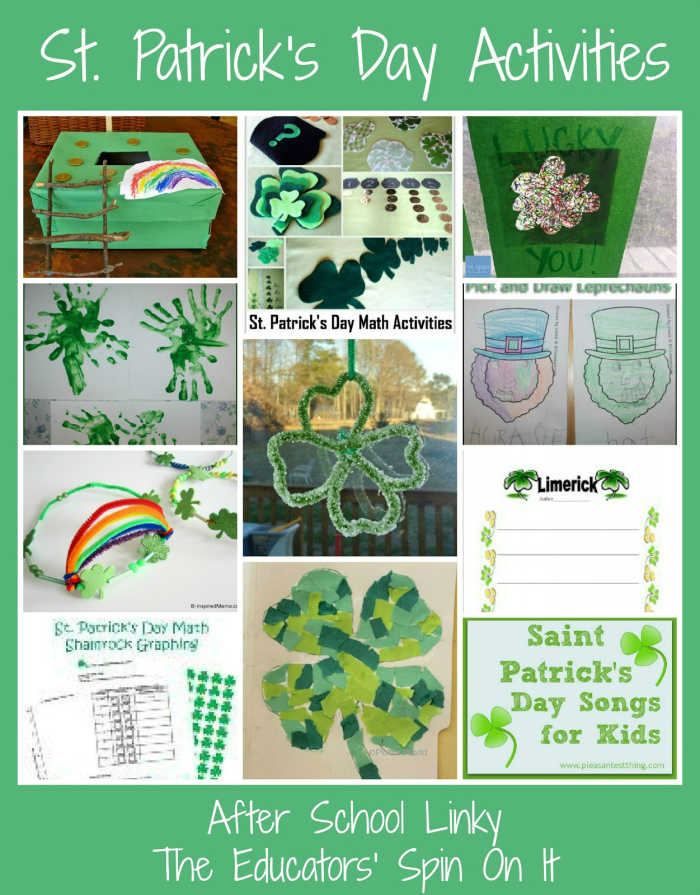 St. Patrick's Day Activities for After School with kids.