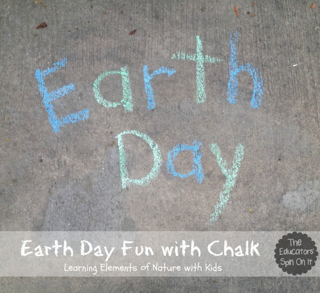 earth day written with chalk