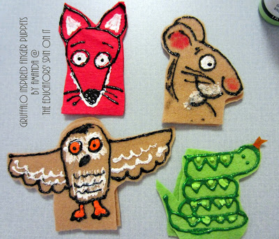 Gruffalo Story Finger Puppets inspired by Julia Donaldson