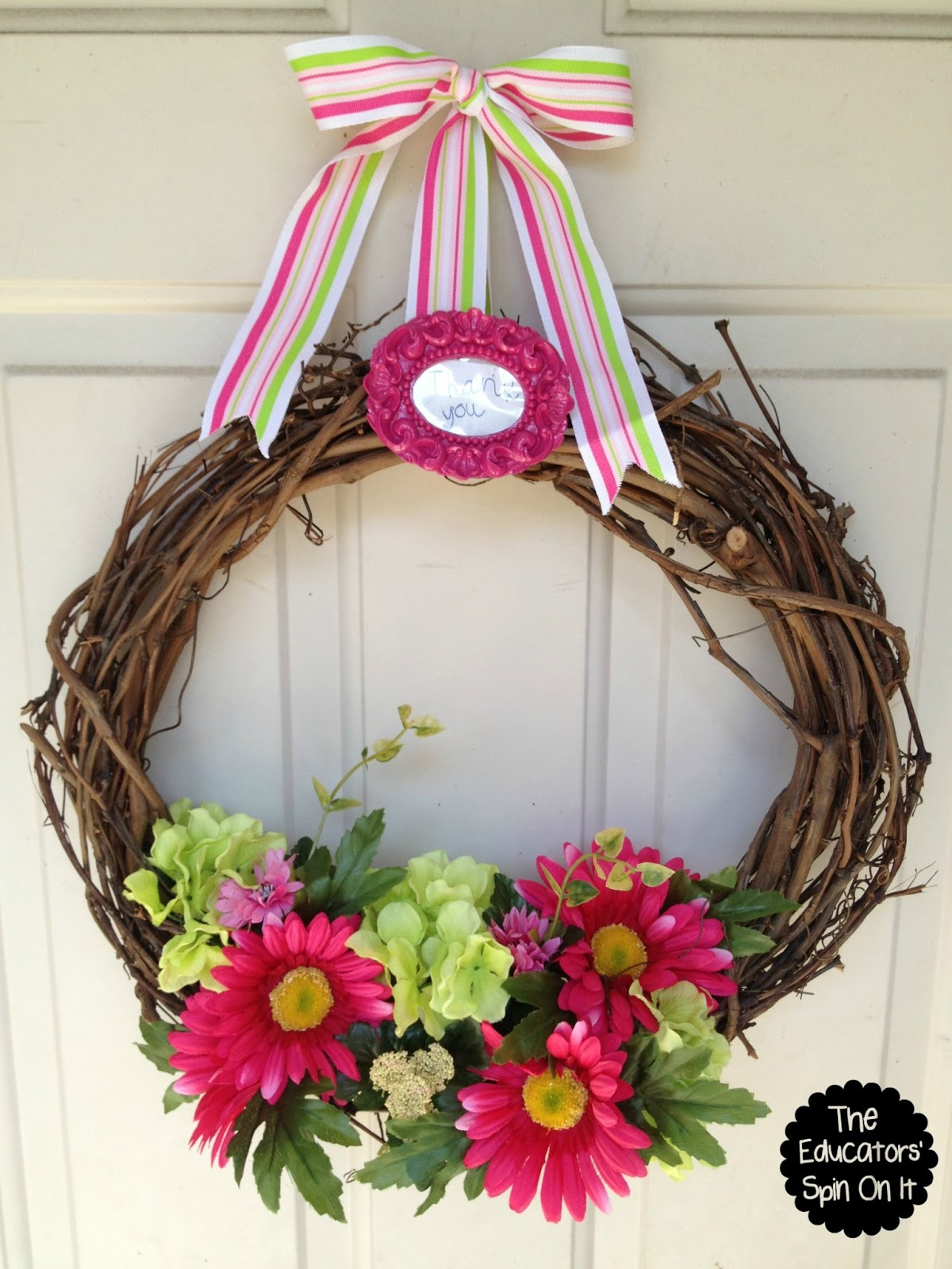 Classroom Wreath Ideas ~ Teacher appreciation gift ideas the educators spin on it
